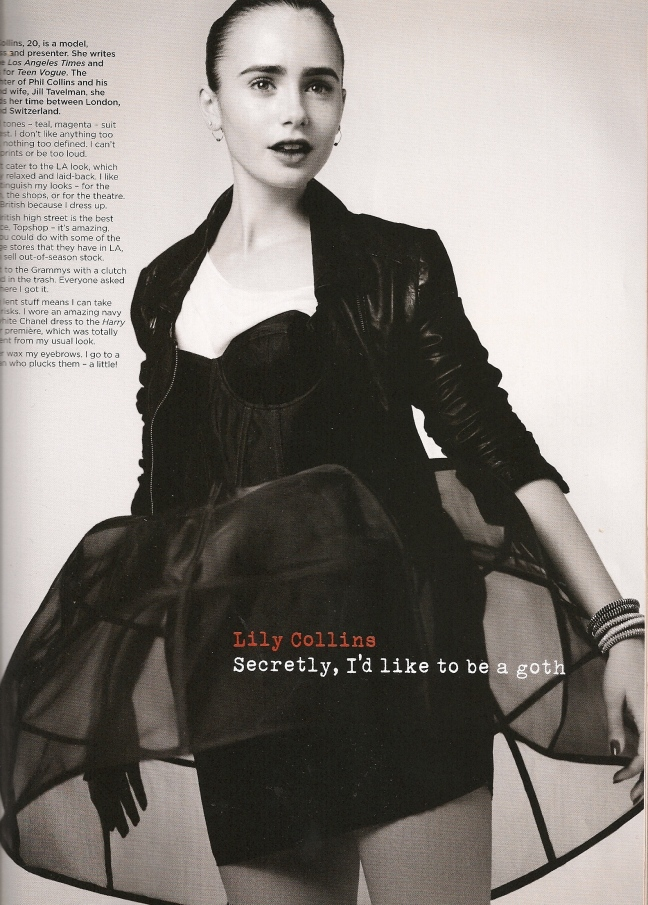 leather lilly collins by vogue nov 09